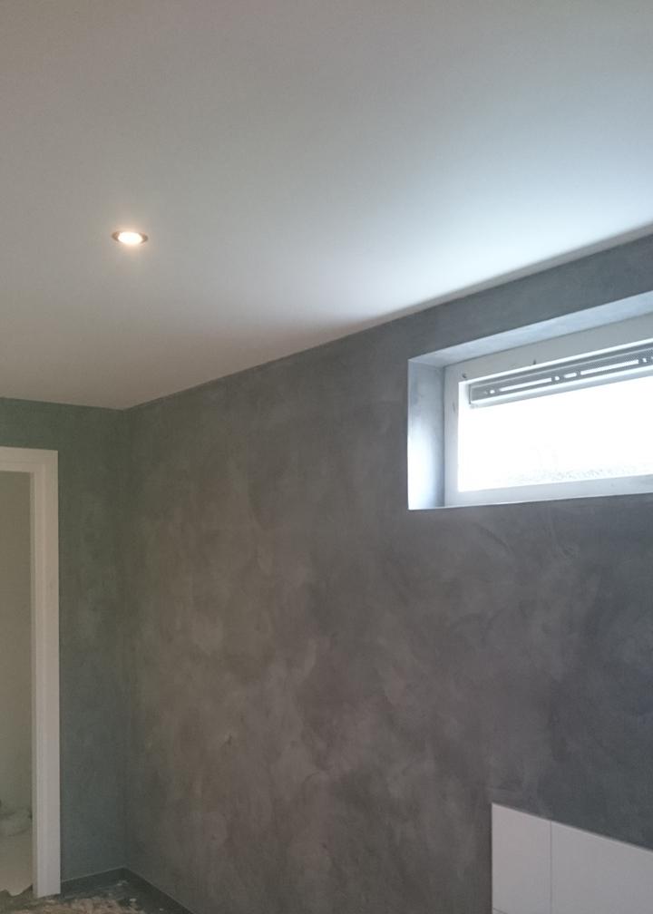 Betonlook muur badkamer - Betonlook wand ...